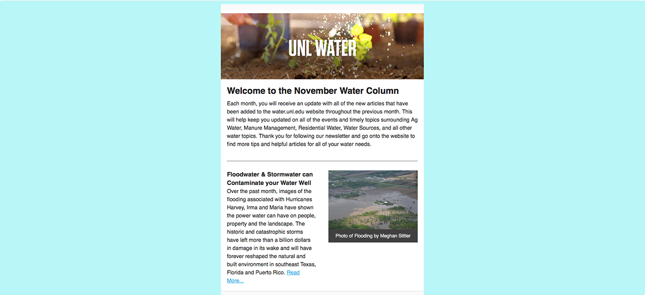 UNL Water E-mail Sign-Up