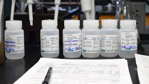 Bottles in Laboratory